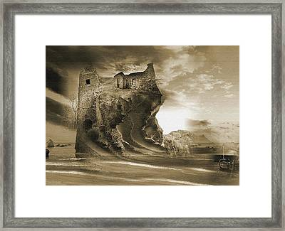 The Keep Framed Print