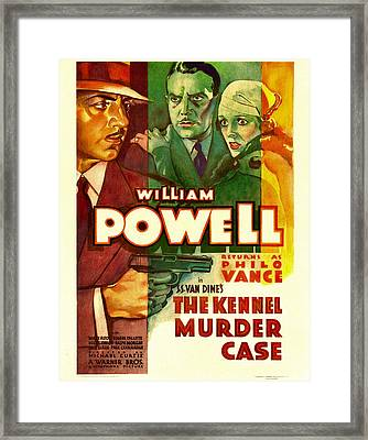 The Kennel Murder Case, William Powell Framed Print by Everett