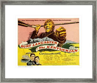 The Kentuckian, Burt Lancaster, 1955 Framed Print