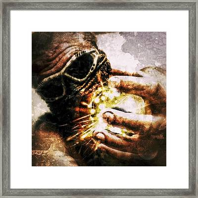 The Key Of Infiniti, Darkness And Framed Print