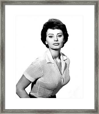 The Key, Sophia Loren, 1958 Framed Print