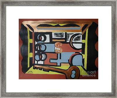The Key To The Mansion's Gate Framed Print by Marie Bulger