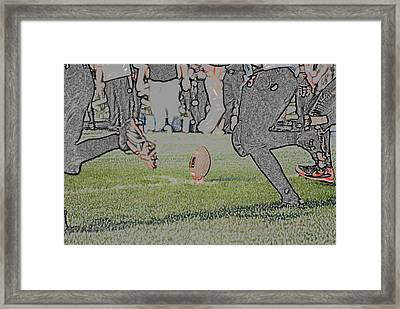The Kick Off Digital Art Framed Print