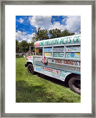 The Kindness Bus 1 Framed Print by Art Dingo