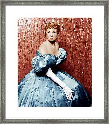 The King And I, Deborah Kerr, 1956 Framed Print