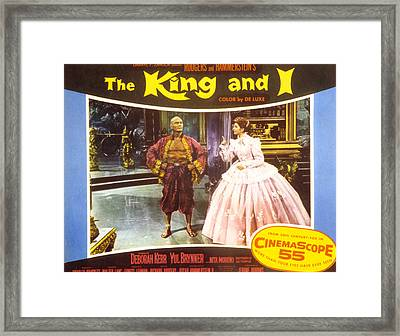 The King And I, Yul Brynner, Deborah Framed Print by Everett