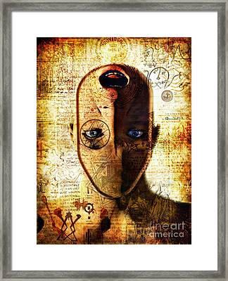 The King In Yellow Framed Print by Luca Oleastri