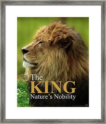 The King Framed Print by Jeremy Martinson