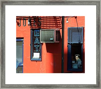 The King Lives Framed Print