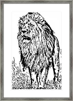 The King Framed Print by Lori Jackson