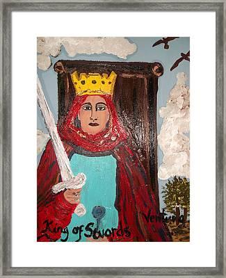 The King Of Swords Framed Print