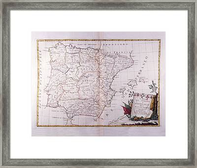 The Kingdom Of Spain And Portugal Divided Framed Print by Fototeca Storica Nazionale