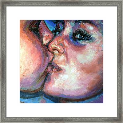 The Kiss Framed Print by Li Newton