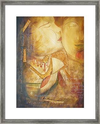 The Kiss Framed Print by Mao Soviet