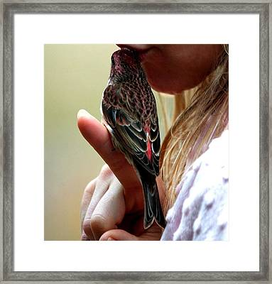 The Kiss That Saved Her Framed Print by Carrie OBrien Sibley