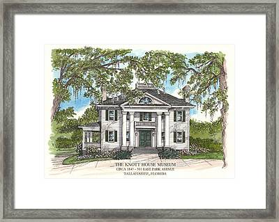 The Knott House Circa 1843 Framed Print