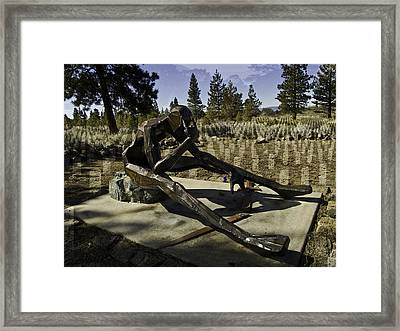 Framed Print featuring the photograph The Korean Veteran by Larry Depee