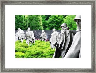 The Korean War Memorial - Washington Framed Print by Bill Cannon