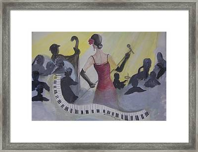 The Lady And Jazz Framed Print by Janna Columbus