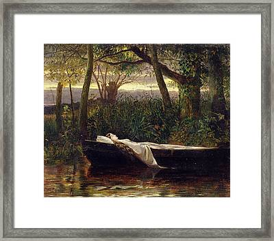 The Lady Of Shalott Framed Print by Walter Crane
