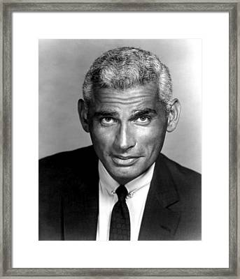 The Lady Takes A Flyer, Jeff Chandler Framed Print by Everett