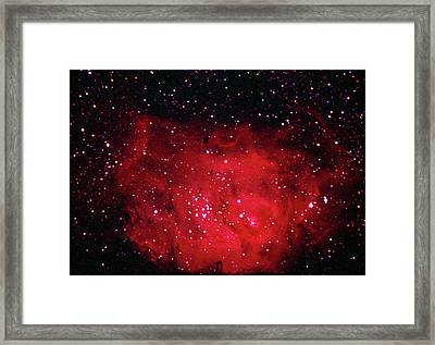 The Lagoon Nebula In Sagittarius Framed Print by A. V. Ley
