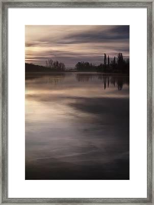 The Lake Framed Print by Akos Kozari