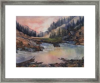 The Lake House Framed Print