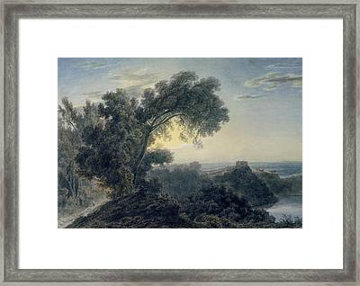 The Lake Of Albano And Castle Gandolfo  Framed Print by John Robert Cozens