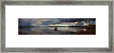 The Lakes' Shore Framed Print