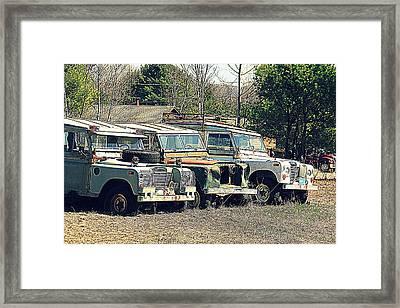 The Land Rover Graveyard Framed Print