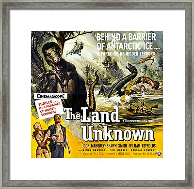 The Land Unknown, Bottom Left From Left Framed Print by Everett