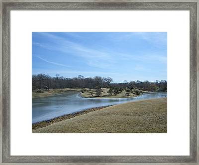 The Landscape In February Part IIi Framed Print by Dragica Lukovic