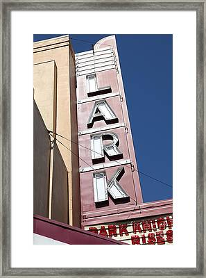 The Lark Theater In Larkspur California - 5d18489 Framed Print by Wingsdomain Art and Photography