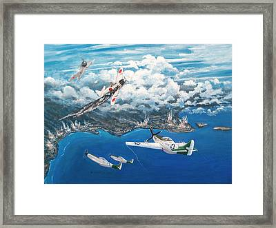The Last Ace Of Ww II Framed Print by Dennis Vebert