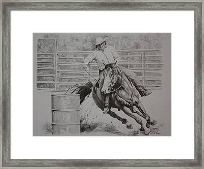 The Last Barrel Framed Print by Tammy  Taylor