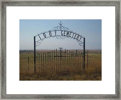 The Last Gates Of Moro Framed Print by Cheryl Perin