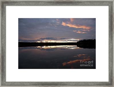 The Last Glow Framed Print by Heiko Koehrer-Wagner