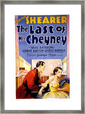 The Last Of Mrs. Cheyney, Basil Framed Print by Everett