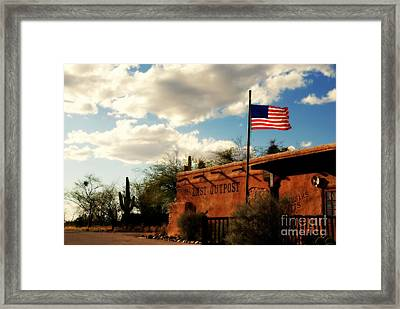 The Last Outpost Old Tuscon Arizona Framed Print by Susanne Van Hulst