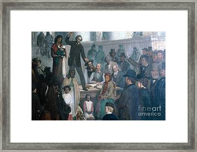 The Last Slave Sale Framed Print by Photo Researchers