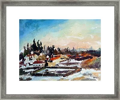 The Last Snow Framed Print