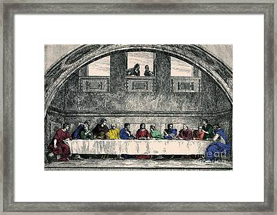 The Last Supper Framed Print by Photo Researchers