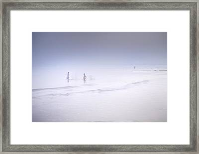 The Last Swim Of The Day Framed Print