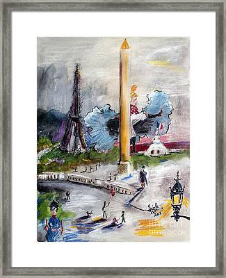 The Last Time I Saw Paris Framed Print by Ginette Callaway