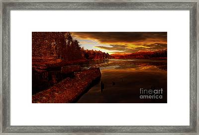 The Last Trains Framed Print