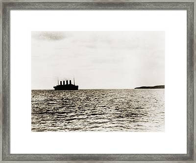 The Last View Of The Luxury Liner Framed Print