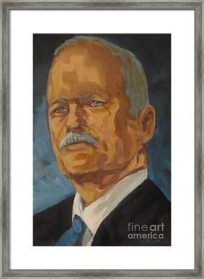The Late Honorable Jack Layton Framed Print by John Malone