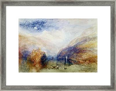 The Lauerzersee With The Mythens Framed Print by Joseph Mallord William Turner