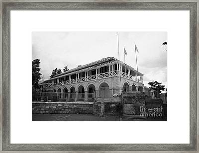 the law courts building in sarayonu square nicosia TRNC turkish republic of northern cyprus Framed Print by Joe Fox